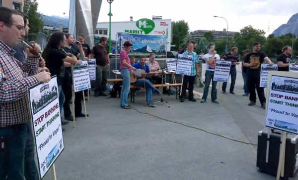 Oostenrijk Innsbruck dampersprotest