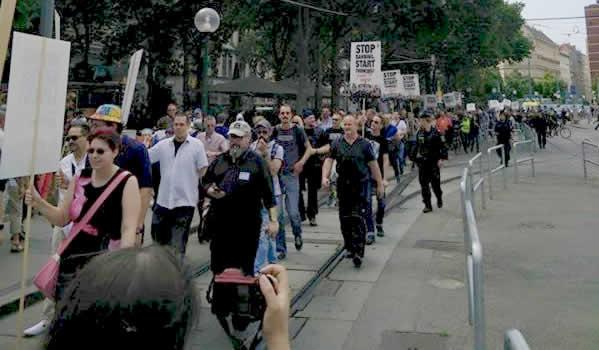 Oostenrijk dampersprotest in Wenen