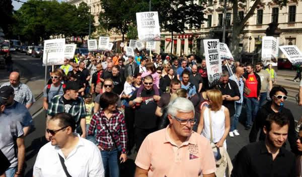 Oostenrijk Wenen dampersprotest